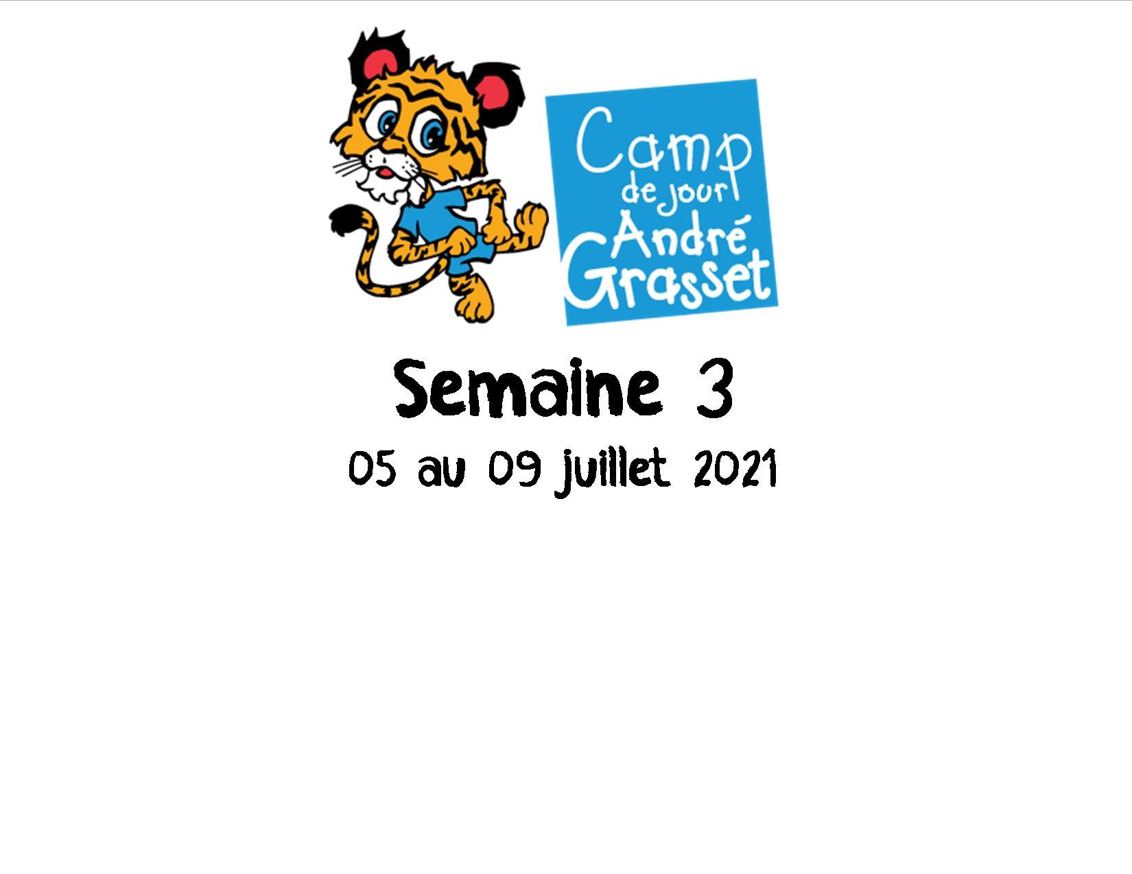 Semaine 3 (05 au 09 juillet 2021)